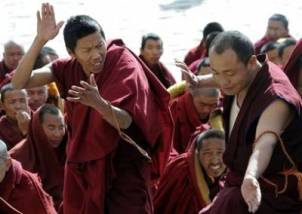 Arguing monks of Tibet