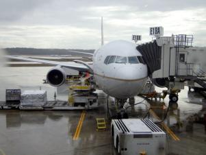 Aircraft at the gate