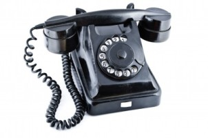 Old fashioned telephone for the Last Mile