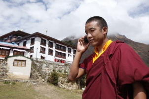 Monk Nepal Cell PHone