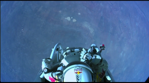 Felix Baumgartner at 22 miles up