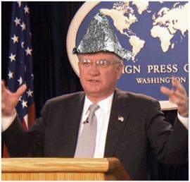 Senator in tin foil hat