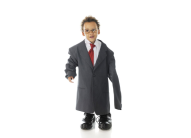 Child in man's suit
