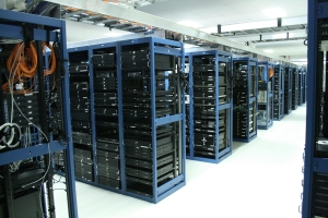Rows of servers