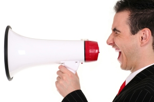 Sales with a megaphone