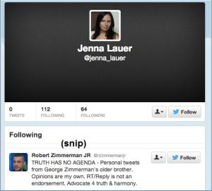 Jenna Lauer Twitter account