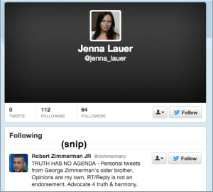 Jenna Lauer Twitter account