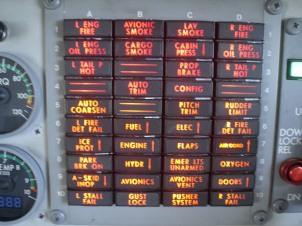 Cockpit warning lights